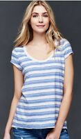 GAP Women's Vintage Wash Rugby Striped Tee Tops Coral/Blue S/M/L/XL/2XL NWT