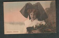 France unmailed Chicoree Arlatte post card Alsacienne woman