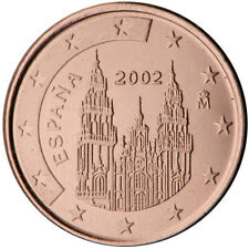 Monnaie 1,2,5 centimes cent cts euro Espagne 2018, neuves du rouleau, UNC