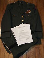 Dress Uniform with Custom Made Ribbon Bar & Bullion CIB.***Id'ed SS Recipient**