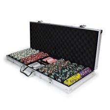 NEW 500 Poker Knights 13.5 Gram Poker Chips Set Aluminum Case Pick Chips