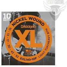 D'ADDARIO EXL140-10P Guitar Strings 10-52 (10-Pack) Nickel Wound