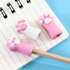 Cute Cat Kitten Paw Rubber Pencil Eraser for School Student Stationery