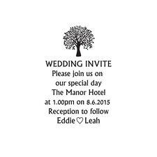 Sello de boda invitación, Boda Hágalo usted mismo de invitación de boda Personalizado árbol