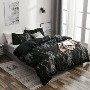 Marble Print Bedding Sets Modern Comforter Duvet Quilt Cover All Size Pilow Case
