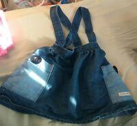 Girls Next Denim Dungaree Dress 18-24 Months 1 1/2-2 years old