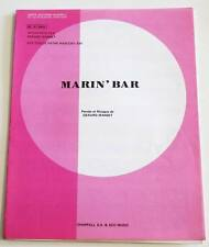 Partition vintage sheet music GERARD MANSET : Marin' Bar * 80's