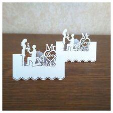 Supplies Wedding Favor Cut Laser Decoration 50pcs Table Cards Party Name Card