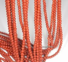 3MM BRICK RED JASPER GEMSTONE ROUND 3MM LOOSE BEADS 16""