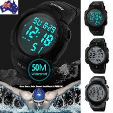 Mens Sports Watch Waterproof Digital LED Military Electronics Casual Wristwatch