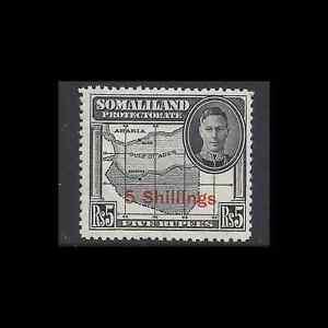 Somaliland 1951 KGVI 5s on 5r Black SG 135 Cat £27 MNH