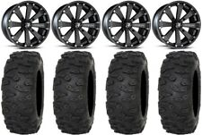 "MSA Black Kore 14"" UTV Wheels 28"" Roctane XR Tires Can-Am Maverick X3"