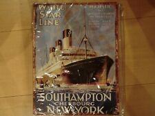Replica Werbeschild aus Blech, White Star Line, Majestic, Southampton - New York