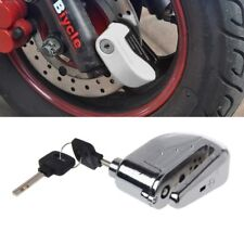 Motorcycle Scooter Bicycle Anti-theft Wheel Disc Brake Lock Security Alarm+2 Key