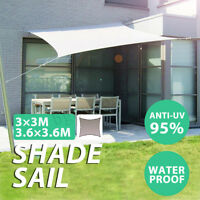 300D Sun Shade Square Sail Outdoor Garden Canopy Patio Cover Awning UV Block US