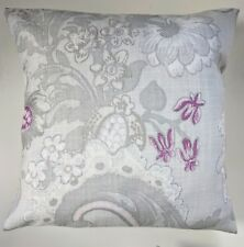 """Shabby Chic Cushion Cover in Laura Ashley Baroque Pale Grape Floral 16"""""""