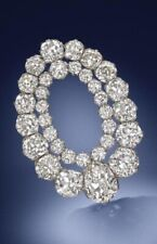 Double Circle Wedding Fine Jewelry Cz White Round 925 Sterling Silver Brooch Pin