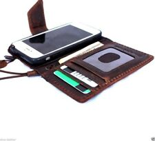 genuine vintage leather case for iphone 5s 5c cover book wallet credit cards