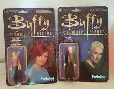Buffy The Vampire Slayer SPIKE & WILLOW ROSENBERG action figures lot reaction