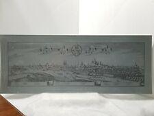 """Panoramic Template Style Norenberg Numberg Nuremberg Germany 10""""X25"""" Metal Heavy"""