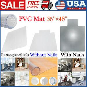 "36""X48"" Clear Chair Mat Home Office Computer Desk Floor Carpet PVC Protector US"