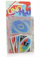UNO Card Game H2O Splash Waterproof Clear PVC Perfect Family Playing Card Game