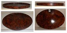Vassoio ovale cm 37 radica, legno radice tuya/tuia, artigianato africano, V37-10