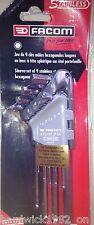 Facom 83SHST.JP9 Stainless Steel 9 Piece Hex Allen Key Set 1.5 > 10mm In Clip