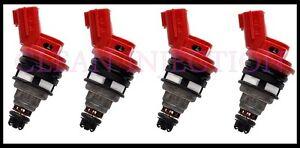 fits Nissan 180sx 240sx 200sx S13 S14 S15 SR20DET KA24DE 650cc Fuel Injectors