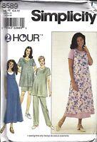 UNCUT Simplicity Sewing Pattern Maternity Dress Top Jumper Pants Shorts 8589 2HR