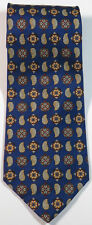 """Blue Red Paisley Floral Silk Tie 3.9"""" Wide 60"""" Extra Long"""
