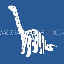 "L. A. Pop Art - Brontosaurus - Art Print Poster 12"" X 12"" (1636)"