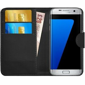 For Samsung Galaxy S7 Case cover magnetic Flip Wallet Genuine Leather phone book