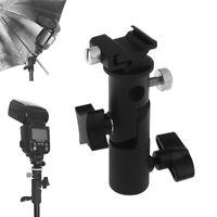 AU_ BL_ DSLR Hot Shoe Mount E Type Flash Light Stand Bracket Umbrella Holder Cam
