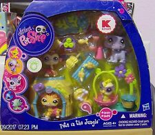 Littlest Pet Shop Exclusive Pets in the Jungle 1449,1450,1451,1452 New Rare