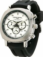 Jorg Gray 3500 Mens Chronograph Silver-Tone Layered Dial WATCH RubberJorg $450