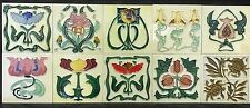 10 Beautiful Art Nouveau Tubelined Fireplace Tiles Kitchen Splash-back NR
