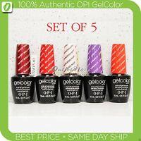 OPI GelColor Kit >SET OF 5 Any Soak Off Gel Nail Colour UV Led Lot - Ship in 24h