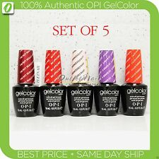 OPI GelColor Kit  SET OF 5 Any Soak Off Gel Nail Colour UV Led Lot - Ship in 24h