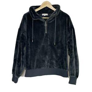 PJ Salvage Women's Soft Cozy Warm Plush Pullover Sweater Grey Smoke Size Small