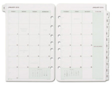 """DAYTIMER 87229 2019 MONTHLY CLASSIC CALENDAR REFILL WITH TABS 5-1/2"""" x 8-1/2"""""""