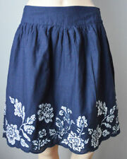 Mini Floral 100% Cotton Skirts for Women