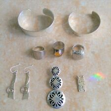 ~Hammered~ 925 Sterling Silver Mixed Jewelry Lot