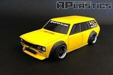 NEW APlastics RC Drift car body shell 1:10 Datsun 510 wagon wide style