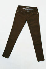 JEANIFUL Low waisted SKINNY SLIM FIT DARK BROWN DENIM JEANS STRETCH W26 Uk6