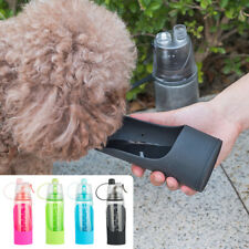 Portable Pet Water Bottle Foldable Leakproof Travel Dog Drinking Bowl Fountain