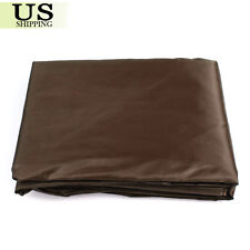 9 FT Rip Resistant Durable PVC Pool Table Billiard Cover W Elastic Corner Coffee