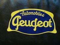 PB58F PLAQUE PUBLICITAIRE tolée age d'or Automobile Peugeot 32 cm * 17  cm