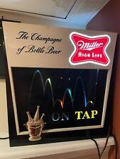 Vintage 1960's Miller High Life Beer Motion Sign Bouncing Beam Lighted Display