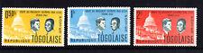 TOGO, Togolaise, 3  Briefmarken, Kennedy,